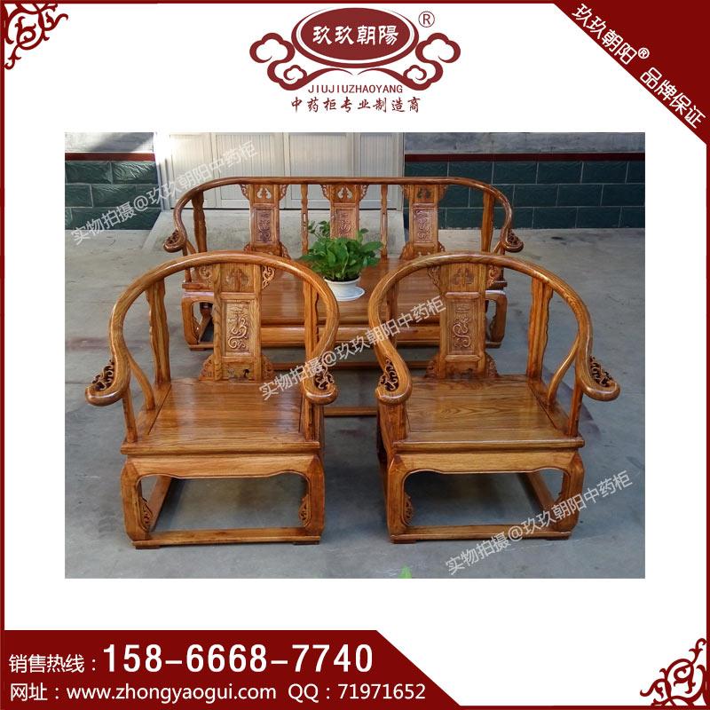 中式候诊椅 中医候诊椅 实木候诊沙发 中医院候诊椅