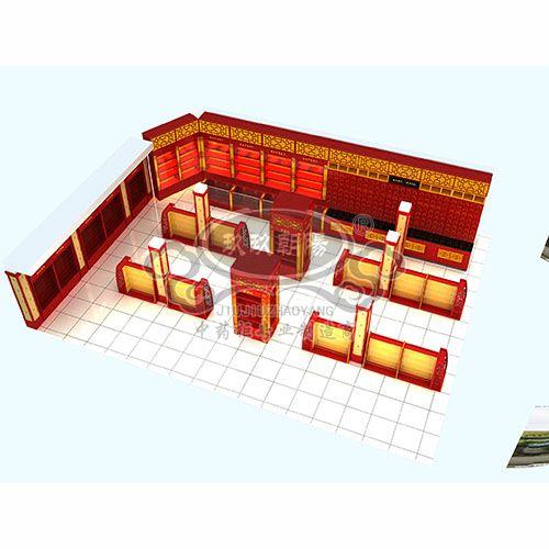 药店中药柜西药柜装修布局图中成药布局设计图