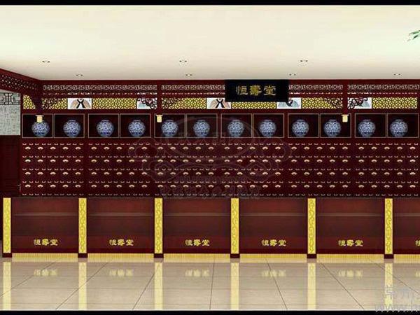 中医馆装修设计效果图,中药柜效果图