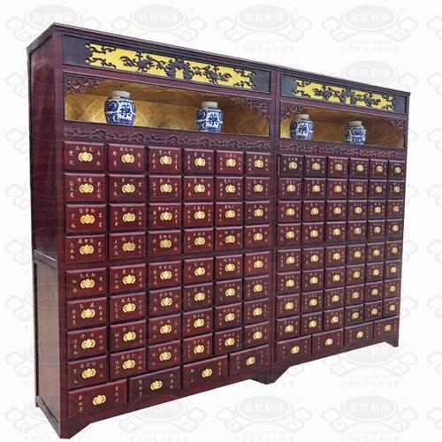 客户定制款展洞中药柜