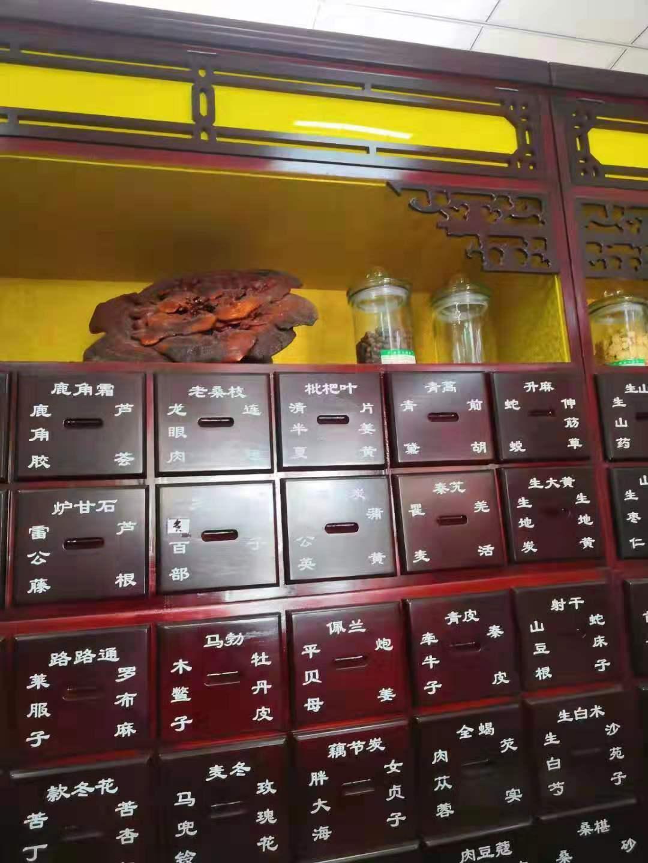【已转让】二手中药橱,实木灯箱中药柜转让处理2017年购买的1.5米中药柜2组